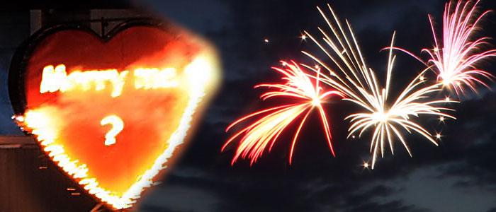 Heiratsantrag Feuerwerk